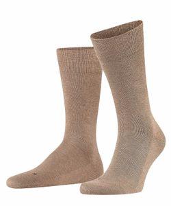 FALKE Herren Socken - Sensitive London, Strümpfe, Uni, Baumwollmischung, 39-46 Hellbraun 39-42