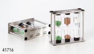 """Sanduhr """"Perfect Tea"""" Glas, ca. 3 x 9 x 8 cm für 3 verschiedene Ziehzeiten"""