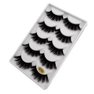 Falsche Wimpern 3D Wimpernverlängerung Makeup Tools G703 Schwarz 1,3 cm