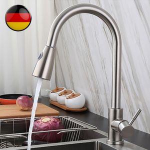 360 Grad herausziehen 2 Modi Wasserhahn mit Schlauchmischer Küchenarmaturen Wasserhahn Schwenkbarer Auslauf Spüle Sprühbad Badezimmer Küche Haushaltswaren