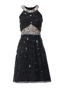 Ashley Brooke Damen Designer-Paillettenkleid, schwarz, Größe:40