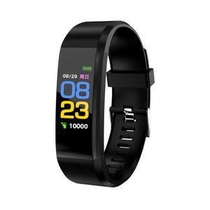 Blutdruck Sauerstoff Herzfrequenz Fitness Smart Watch Sport Armband Armband Schwarz
