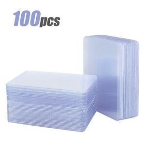 100 Stück Regular Toploader Sammelkarten-Schutzhüllen für Kartenhülle Pokemon Magic Yugioh 77 x 101mm