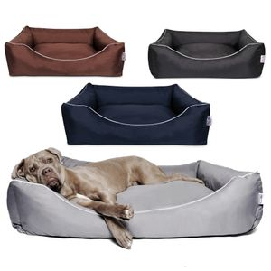 Tante Hilde Hundebett Norderney | Waschbar und Robust | Farb und Größenauswahl | XXXL 120 x 90 cm Grau