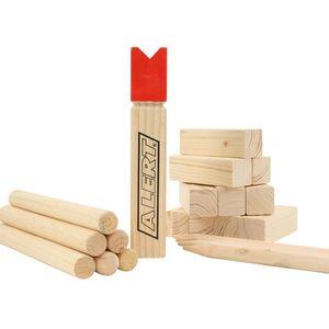 ALERT Kubb 740-0218 Outdoor Wurfspiel aus Holz inklusive Beutel