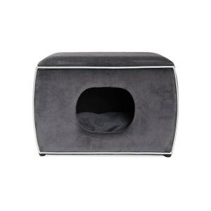 Hundehöhle Nelson   Grau   Hundebett, Kuschelhöhle für Hunde