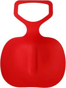Schneeschlitten Kinder Schneerutscher Poporutscher Schnee Flexibel Kunststoff Rutscher Schlitten(Rot)
