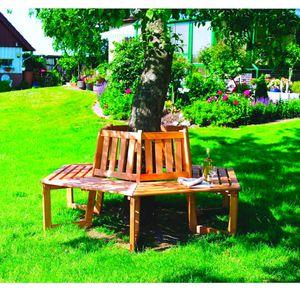 Baumbank 360° Sitztmöbel mit oder ohne Auflage Holz Gartenmöbel 360/26, Zubehör:Ohne Zubehör