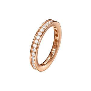 Joop Damen Ring Silber Rosé Zirkonia TAYLOR JPRG90788C, Ringgröße:55 (17.5 mm Ø)