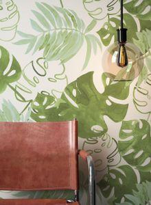 Blumentapete  Grau   Floral Modern Natur Blumen Blätter  Nydoimma