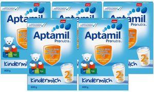 Aptamil Kinder-Milch 2+ ab dem 2. Jahr, 5x600g