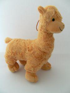 Stofftier Alpaka, 31 cm, hellbraun, Kuscheltier Plüschtier, Lama, Alpakas, Lamas