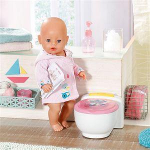 BABY born toilette Baby-Puppe junior 23,2 cm weiß/rosa