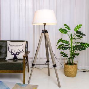 Tripod Stehlampe Dreibein Stehleuchte, Wohnzimmerlampe, Standleuchte für Wohnzimmer, Schlafzimmer E27 - Weiß