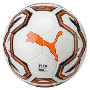 PUMA Futsal 1 FIFA Quality Pro Indoor Ball Weiss-Orange-Schwarz, Größe:4