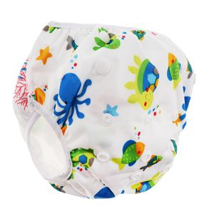 Schwimmwindel Waschbar Mehrwegwindeln Baby Diapers Wasserdicht Windelhosen Unisex Einheitsgröße Einstellbar Badeshorts Leakproof Wassersport Bademode Wasserwelt 海底 世界 wie beschrieben