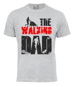 """Cotton Prime® Fun-Shirt """"THE WALKING DAD"""" L grau"""