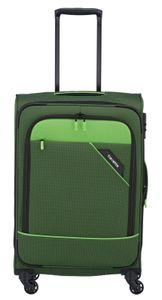 Travelite Derby 4-Rollen Weichgepäck Trolley Koffer M 66 cm 3 kg, Farbe:Grün