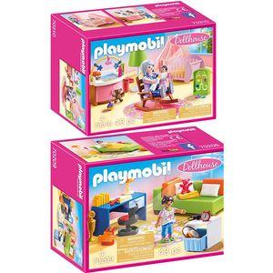 PLAYMOBIL 70209 70210 Dollhouse 2er Set Jugendzimm