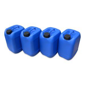 4 Stück 10 Liter 10 L Kanister, Wasserkanister Farbe blau lebensmittelecht DIN51 (4x10knb51)
