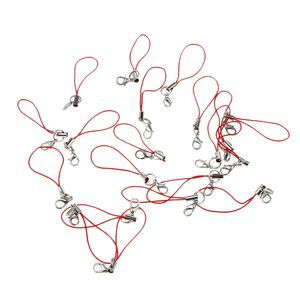 20 Stück Polyesterseil Lanyard Schlüsselband Umhängeband Lanyard ID Badge rot 7 cm