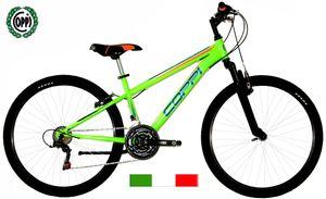 26 Zoll  Mountainbike MTB Coppi Spark 18 Gänge Schwarz-Orange 44 cm Rahmengröße
