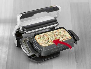 TEFAL XA 7268 Snacking & Baking Backschale für Optigrill+ GC722D, Farbe:Edelstahl/Schwarz