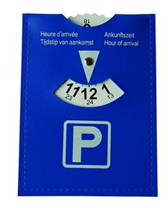 HP Parkscheibe, Kunstleder, mit 24-Stundenanzeige nach Euro-Norm, 11 x 15cm