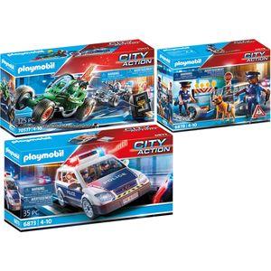 PLAYMOBIL 6873-8-70577 City Action 3er Set Polizei