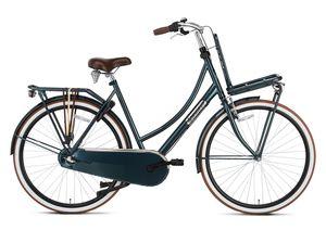 Popal Transportfahrräder Damen Daily Dutch Basic+ 28 Zoll 57 cm Damen 3G Rücktrittbremse Dunkelgrün