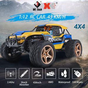 Wltoys XK 12402-A D7 1/12 RC Auto 550 Motor 4WD 45Km / H Wuesten-Buggy-Auto Rock Racing Crawler-LKW Offroad-RC-Auto 2,4 GHz Gelaendewagen Truggy-Kletterwagen fuer Erwachsene und Kinder