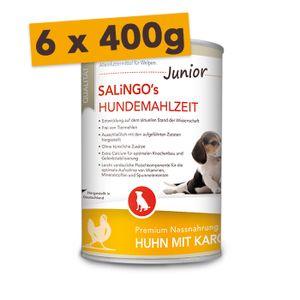 SALiNGO Welpenfutter Huhn mit Karotte & Calcium | getreidefrei | 6 x 400g