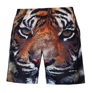 Männer Strandhosen Lässige Shorts wie beschrieben Tiger 3XL