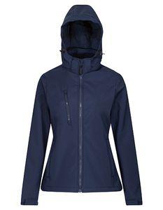 Regatta Professional Damen Softshell-Jacke Venturer 3-layer Printable Hooded Softshell Jacket TRA702 Mehrfarbig Navy/Navy 36 (10)