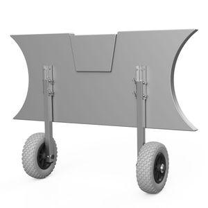 Heckräder, Slipräder, Schlauchbooträder, Transporträder, klappbar, SUPROD ET200, Edelstahl, grau/schwarz