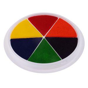 6 Farben Große Farben Stempelkissen Kinder Hand \\u0026 Fuß Drucke Finger Malen