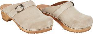 Sanita Hedi Open Clog Beige Größe 39 Damen Schuh Hausschuh Clog aus Echtleder