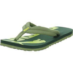 PUMA Epic Flip v2 PS Kinder Sandale Zehentrenner Kiefergrün-Gelb Schuhe, Größe:29