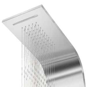 vidaXL Duschpaneel-System Edelstahl Gewölbt