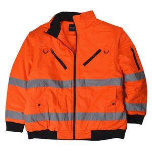 Herren Übergrößen 2 in 1 Warnschutzjacke / Wetterjacke orange, Größe:7XL