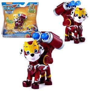 Mighty Pups | Spiel-Figuren mit Spezial-Funktionen | Paw Patrol | Hunde-Welpen, Figur:Marshall