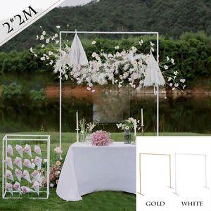 Weiß Hochzeit Ballon Basis Bogen Ballonbogen Bodenständer Ständfuß DIY Halter 2x2M
