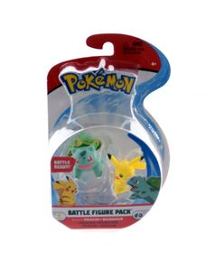 Pokémon Battle Figuren Wave 9 (5 bis 8 cm), Charakter:Pikachu + Bisasam