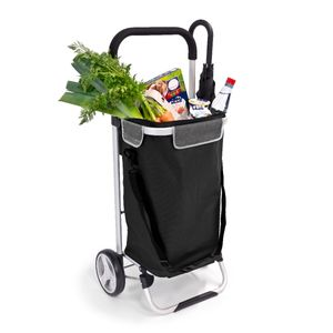 bremermann Einkaufstrolley BRINKUM, Handwagen, Einkaufswagen mit abnehmbarer Tasche, schwarz