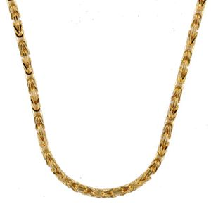 1,8 mm 42 cm 585 - 14 Karat Gelbgold Königskette massiv Gold hochwertige Halskette 9,9 g