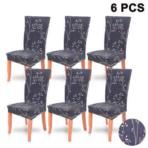 Universal Stretch Stuhlhussen 6er Set, Abnehmbare Stuhlbezug Sitz Stuhl Esszimmer überzug Stuhlüberzu Abdeckungen Hussen für  Hotel Party Bankett