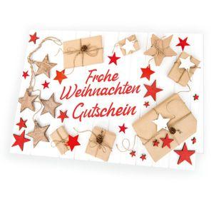 Gutschein Weihnachtsgutschein Weihnachtskarte - Geschenkezauber - Inhalt:  1x Karte 1x Umschlag