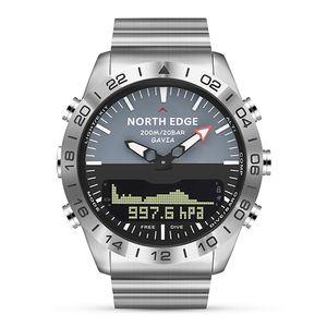 SportsWatch 200m wasserdicht Herren Sport Digital Analoguhr Taucheruhr Full Steel Business Armbanduhr Höhenmesser Kompass
