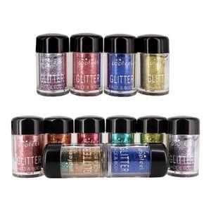 12 Farben Glitter Eyeshadow Glitzer Schimmer Lidschatten Puder zur Kosmetik von Augen und Nagel Glitzer Pigment Powder