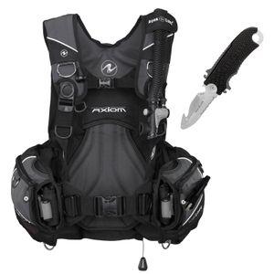 AquaLung Axiom Tarierjacket inklusive Jacketmesser Edelstahl 304 , Größe:M/L
